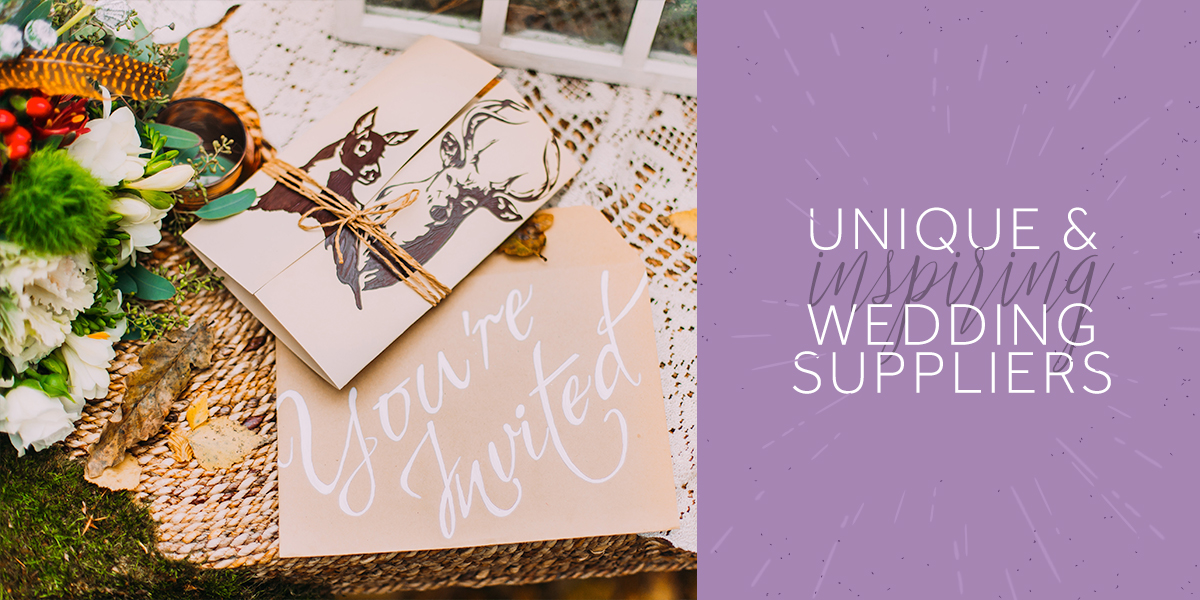 Unique & Inspiring Wedding Suppliers
