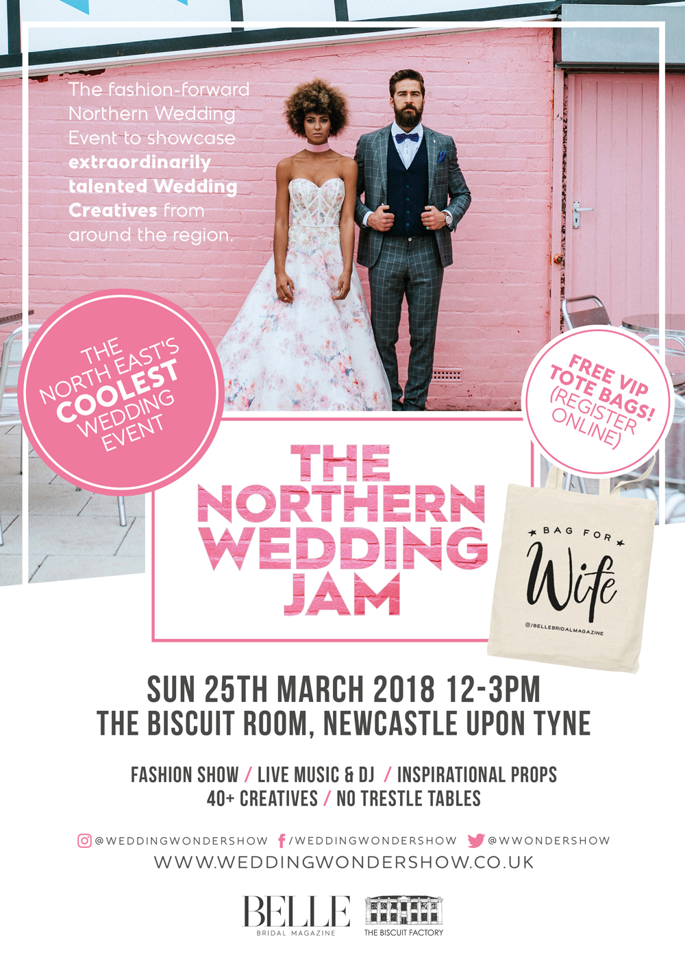 Sunday 25th March 2018 12-3pm - The Biscuit Room, Newcastle upon Tyne